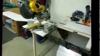 Wall Hugger Sliding Miter Saw Station With Dust Collection Pt. 1