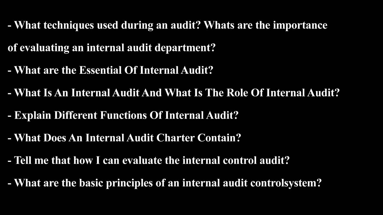 audit interview questions to ask audit interview questions to ask