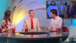 Александр Усанина в телепередаче «Доброе утро, Беларусь»