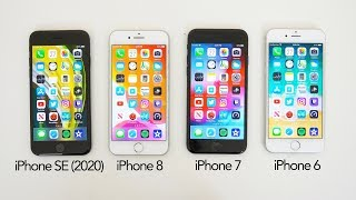 Speed Test: iPhone SE 2020 vs iPhone 8 vs iPhone 7 vs iPhone 6!