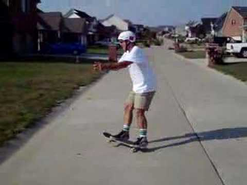 Spinning Old School 360 Freestyle Trick On A Skateboard