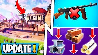 "*ALL* Fortnite 10.20 Changes! | Building Nerfed, ""Pandora"" POI, New Vaults!"