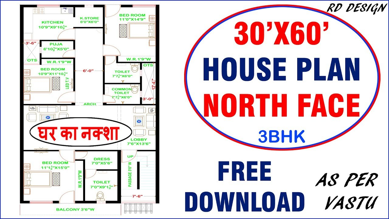 30 X 60 North Facing House Plans Vastu House Floor Plans