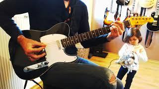 Johnny Hallyday Quelque chose de Tennessee guitar cover