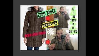 Eddie Bauer DOWN LODGE PARKA unboxing