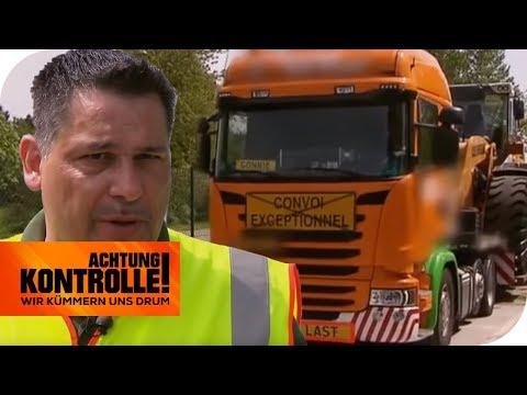 Polizeikontrolle bei Schwertransporter: Was findet die Polizei? | Achtung Kontrolle | kabel eins