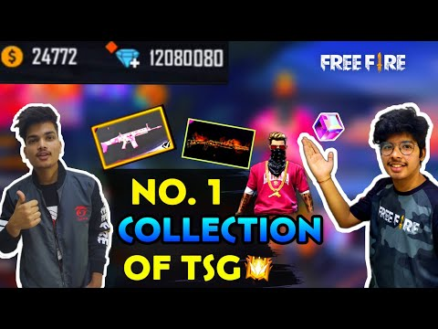 FreeFire ||Two Side Gamers Full Collection Review All Weapons , Bundles , Diamonds || Live Reaction