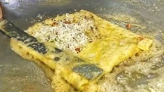 500 Grams ButterRich egg  Extremely butter loaded egg compilation  Raju Omlet  Indian Street Food