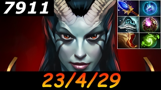 dota 2 queen of pain 7911 mmr 23 4 29 kills deaths assists ranked full gameplay