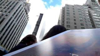 Ralph Fiennes Lord Voldemort walking down in Manhattan signing autographs