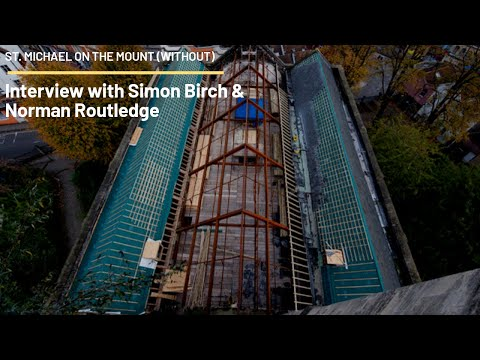 Simon Birch and Norman Routledge discuss the roof and progress at the church.