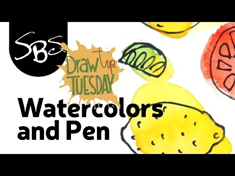 Combining Watercolours And Pen