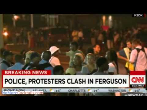 Violence erupts yet again in Ferguson after rioters throw Molotovs; Police use tear gas