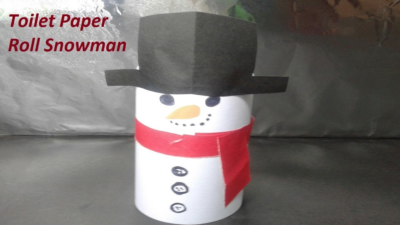 paper roll snowman craft how to make diy snowman easy papercraft with toilet 5131