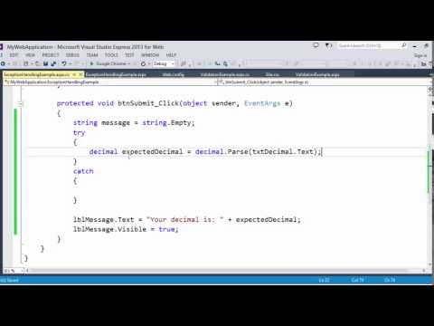 Introduction to ASP.NET Web Forms: Error Handling