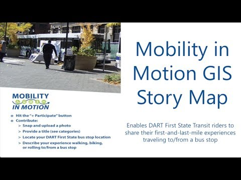 Mobility in Motion GIS Story Map Tutorial - YouTube
