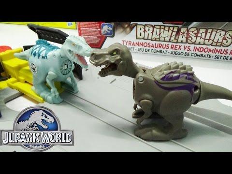Bộ đồ chơi đấu trường khủng long T-Rex vs Indominus Rex Jurassic World