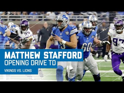Matthew Stafford Goes 6/6 on 7 Minute Opening Drive for TD | Vikings vs. Lions | NFL on Thanksgiving
