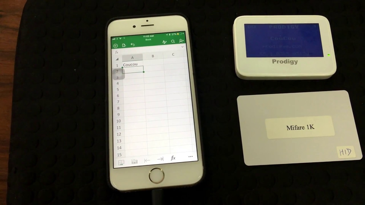Apple iOS iPhone - HID on Bluetooth - using CouCou - read NFC/RFID data