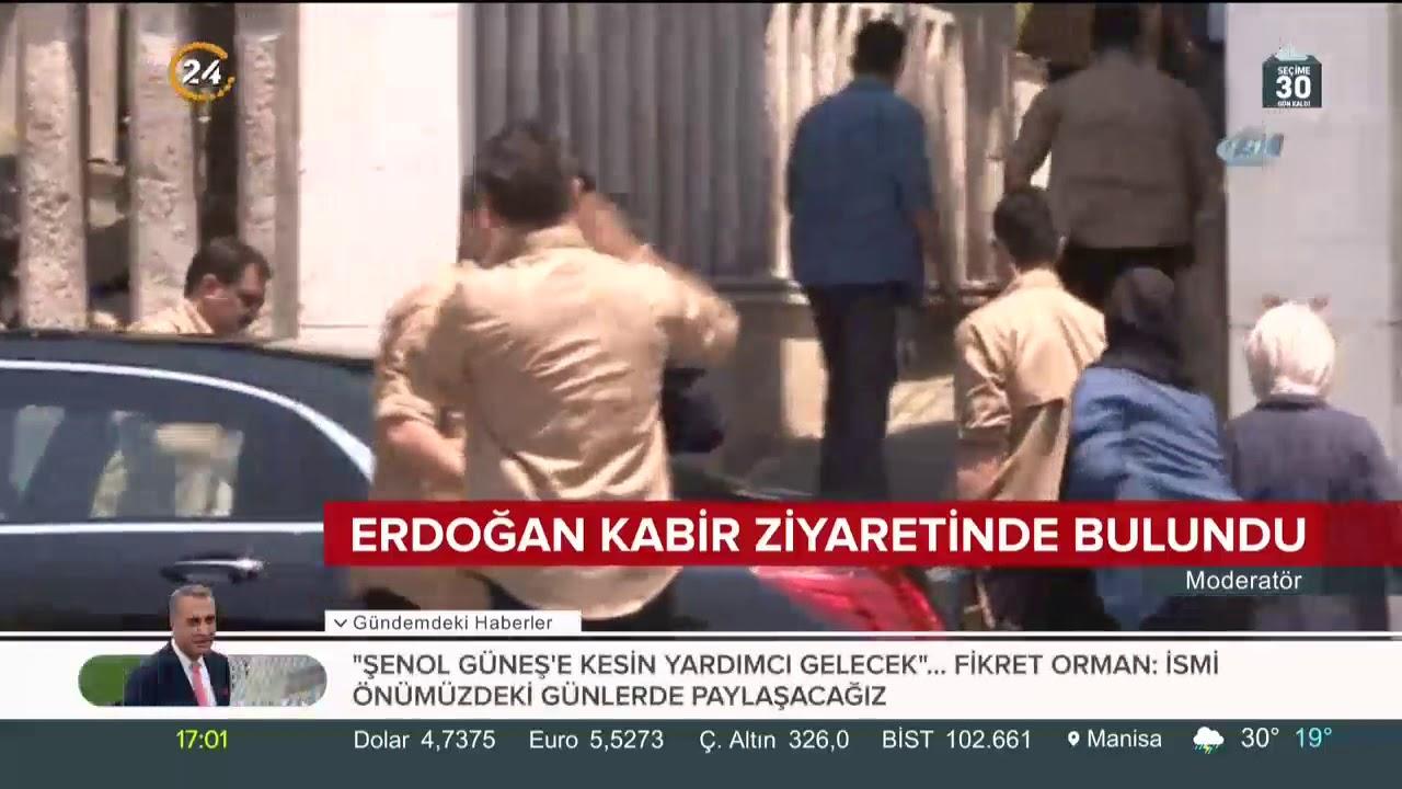 Cumhurbaşkanı Erdoğan, İstanbul'da anne ve babasının kabirlerini ziyaret etti