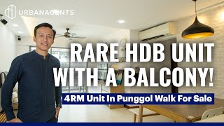 271D Punggol Walk | Rare & Exclusive 4RM HDB Unit With A Balcony! One Minute Walk To Punggol MRT