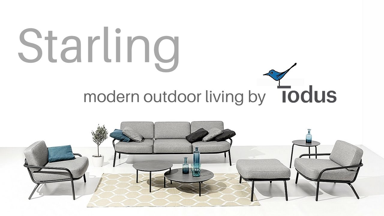 design gartenm bel starling video outdoorm bel aus edelstahl youtube. Black Bedroom Furniture Sets. Home Design Ideas