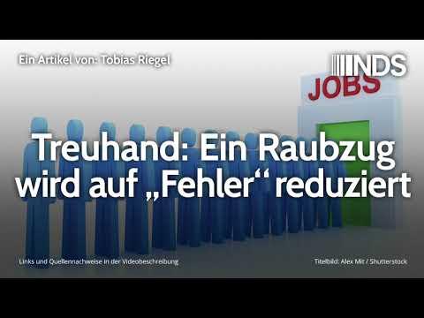 """Treuhand: Ein Raubzug wird auf """"Fehler"""" reduziert   Tobias Riegel   NachDenkSeiten-Podcast"""