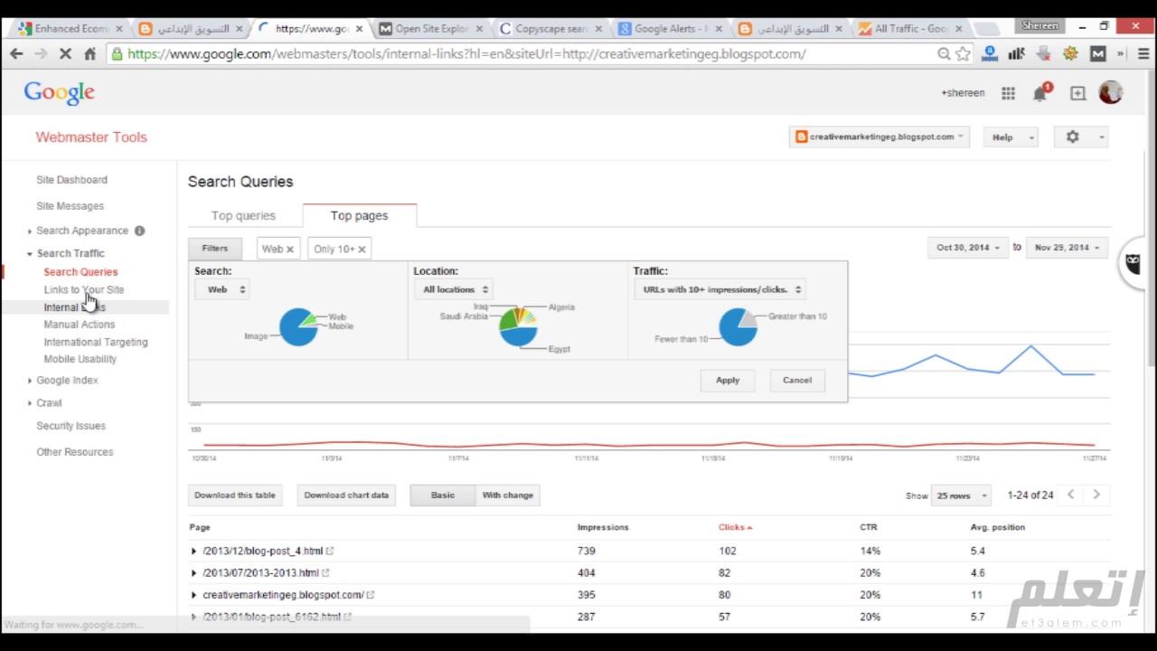 Google Webmaster Tools - أدوات مشرفي محركات البحث جوجل