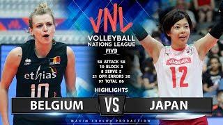 Japan Vs Belgium  | Highlights | Women's VNL 2019