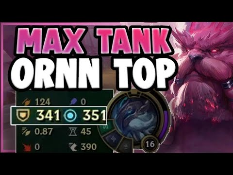 1v9 MEGA TANK ORNN STRATEGY IS 100% TOO BUSTED!! ORNN SEASSON 11 TOP GAMEPLAY! - League of Legends