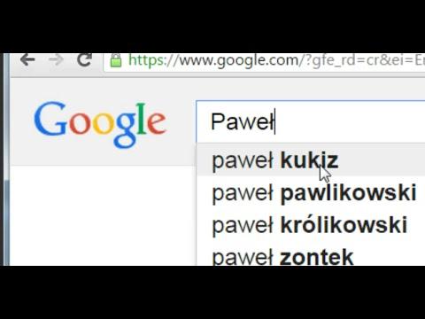 Paweł Kukiz w polskiej google.pl i w google.com
