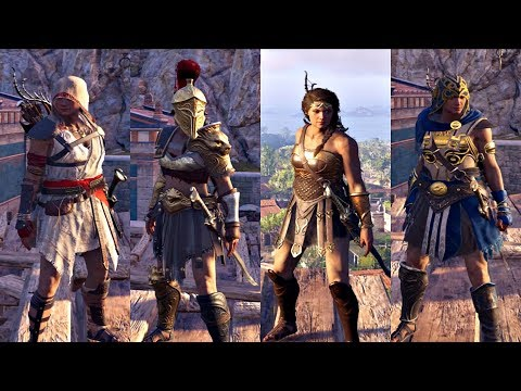 Assassin S Creed Odyssey All Legendary Armor Sets Showcase Best