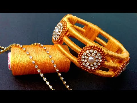 How To Make//New Design Silk Thread Bangles//At Home// Useful & Easy