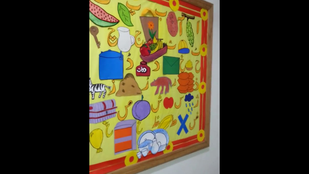 Classroom Soft Board Decoration Ideas ~ Soft board decoration ideas class for playgrup youtube