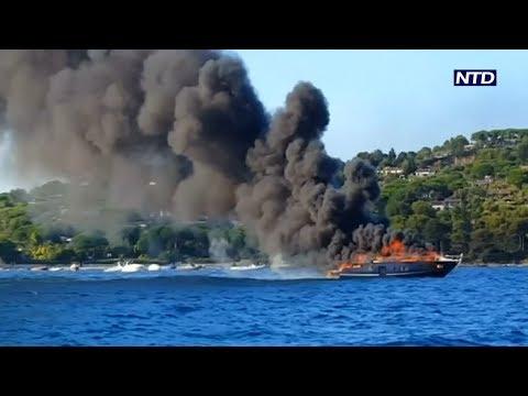 Panique à bord d'un yacht près de Saint-Tropez