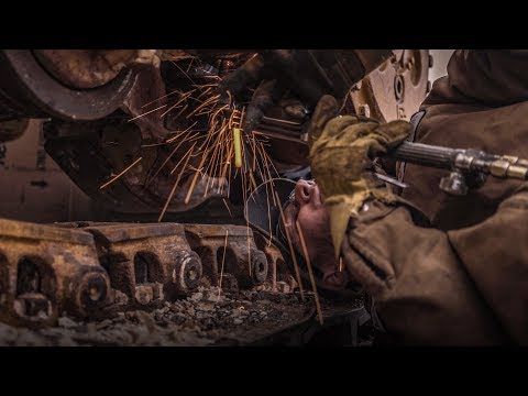 A Heavy Equipment Mechanic Shows How To Torch Broken Bolt Seized From Rust-dozer Chassis