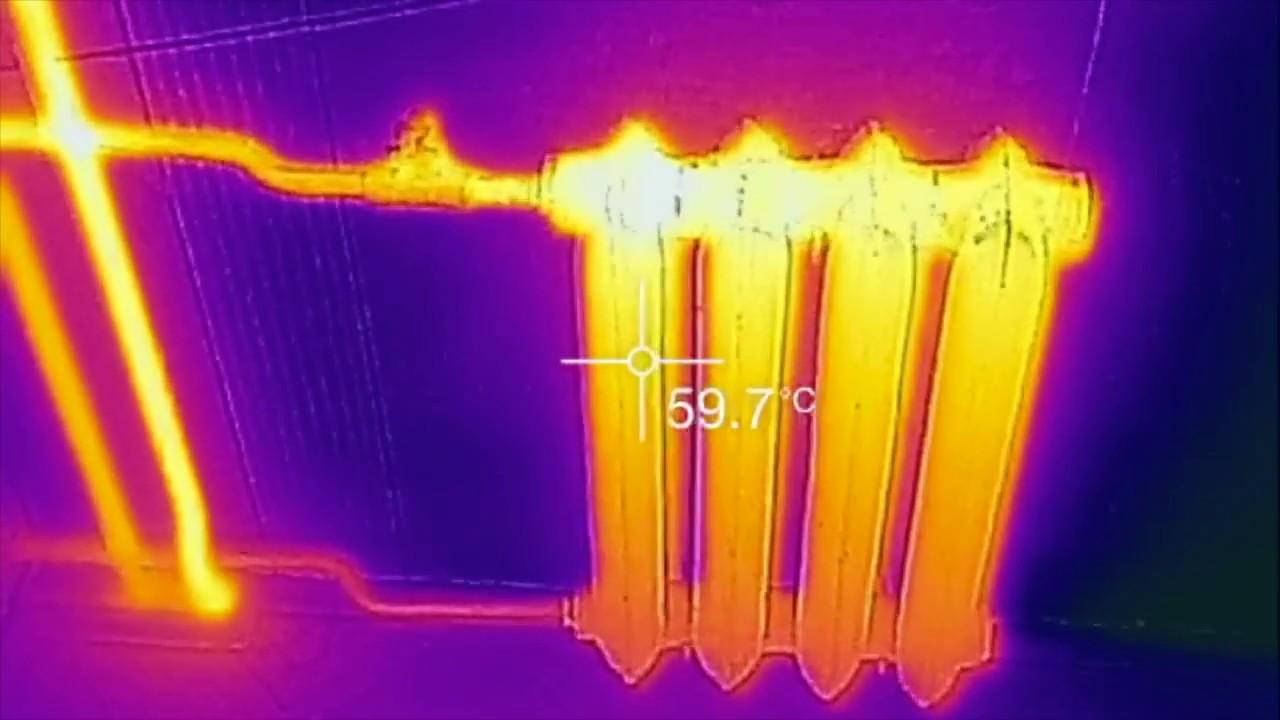 картинка с тепловизора батарея несколько раз