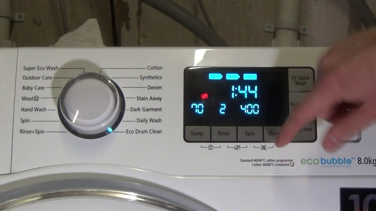 How to: Activate and Deactivate Sound on Samsung Ecobubble Washing Machine