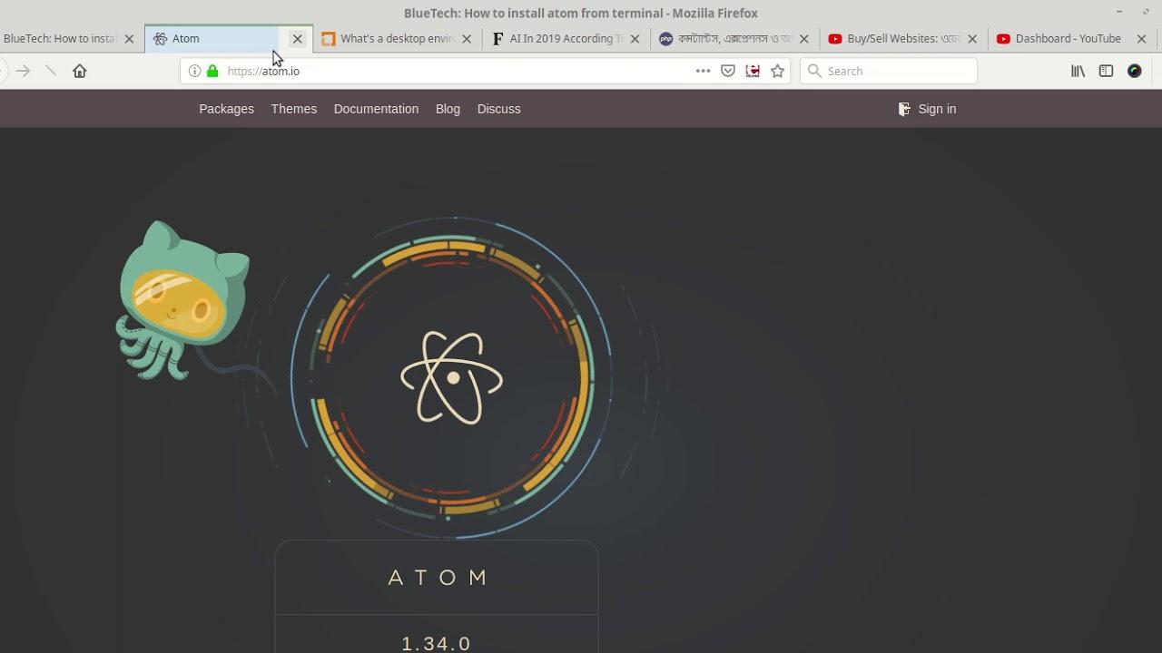 How to install Atom From Terminal | Linux Mint | Ubuntu | Ubuntu Mate |  Linux