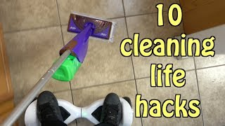 10 Cleaning Hacks That Will Make Chores Easier- SIMPLE HOUSEHOLD LIFE HACKS