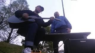 ギターの長瀬正明さんは柳の先輩です。