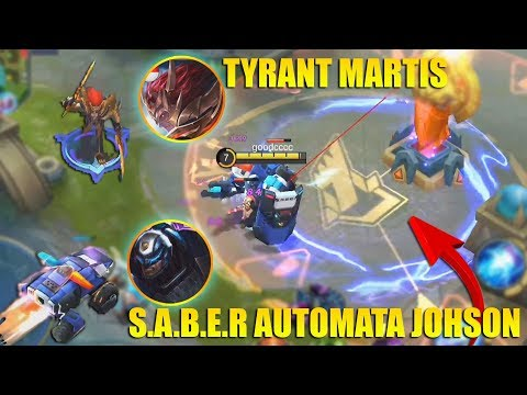 SKIN TER KEREN!!! JOHNSON S.A.B.E.R AUTOMATA EPIC SKIN dan MARTIS TYRANT REVIEW & GAMEPLAY