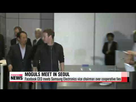 Facebook CEO Zuckerberg meets Samsung Electronics vice charman Lee Jae-yong in S