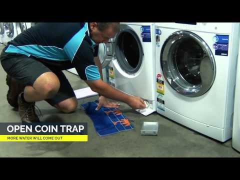 How to clean coin trap on front loader washing machines