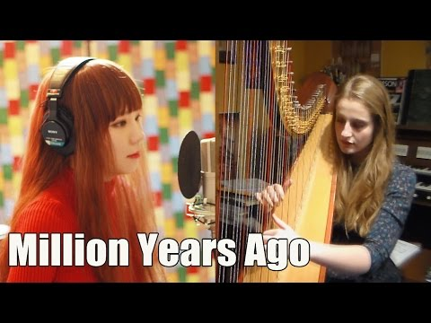 Adele - Million Years Ago ( Harp & Vocal Collab cover )