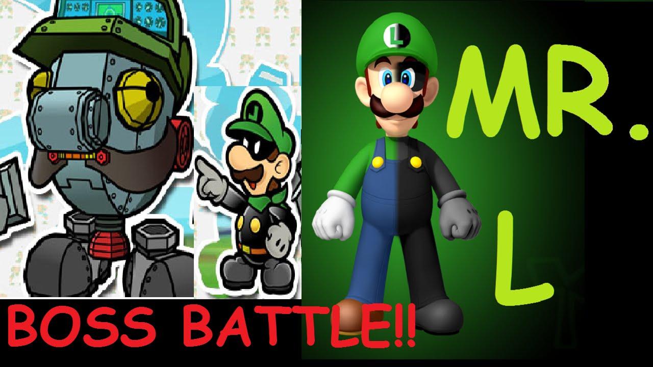 Mr L World 4 Boss Fight Super Paper Mario Wii Youtube