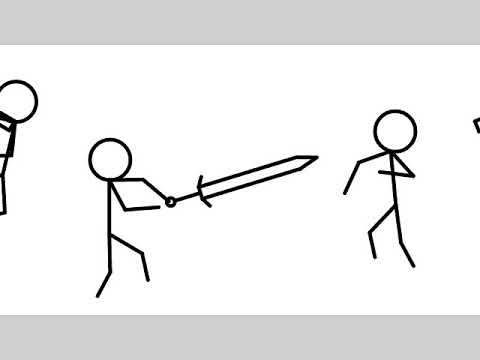 Part one of stick man animation