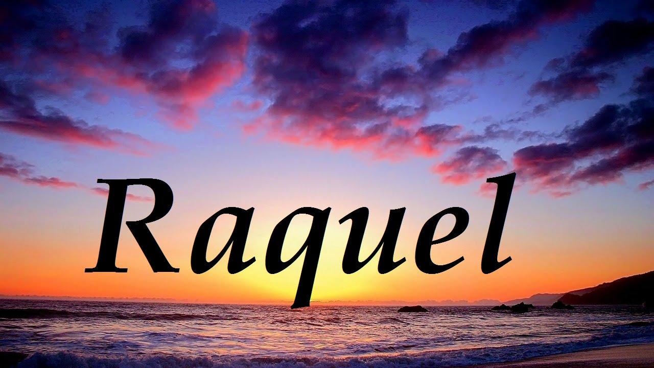 Raquel, significado y origen del nombre - YouTube