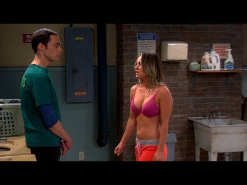 Kaley Cuoco (Penny) seducing Sheldon on the Big Bang Theory