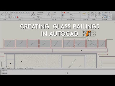 How To Create Glass Railings In AutoCAD - Cadutator